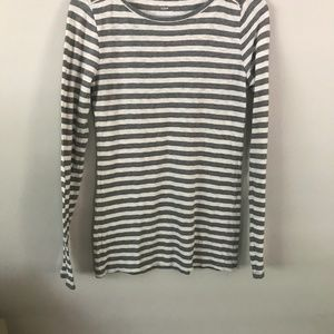 J. Crew Tops - J. Crew artist t long sleeve gray and white